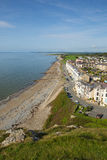 Criccieth North Wales UK coast and beach in summer Royalty Free Stock Photos