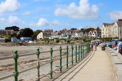 Criccieth promenade, North Wales. Royalty Free Stock Photos