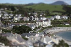 Criccieth tilt and shift C Royalty Free Stock Photos