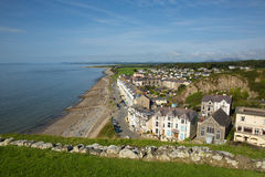 Criccieth town Wales UK coast and beach in summer Royalty Free Stock Photo