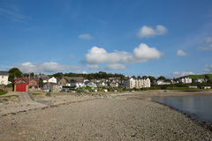 Criccieth Wales UK welsh coast town in Gwynedd located south of Caernarfon in summer on Cardigan Bay Royalty Free Stock Photos