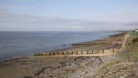 Cricciethstrand en kust Noord-Wales het UK stock video
