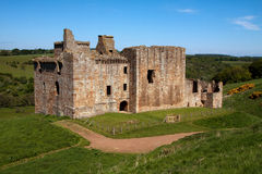 Crichton slott, Edinburg, Skottland Royaltyfria Bilder