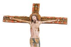 Cricifix en bois à partir de 1400 s dans une église danoise image stock