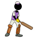 Cricket. Silhouette-man sport icon - cricket Royalty Free Stock Photography