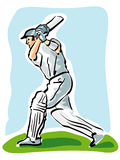 Cricket. Illustration of a cricket player Stock Photo