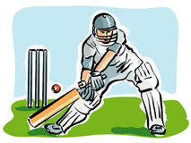 Cricket. Illustration of a cricket player Royalty Free Stock Photography