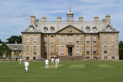 Cricket. A game of cricket on the lawn at Belton House, Lincoln-shire Stock Photos