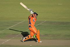 Cricket action Royalty Free Stock Photos