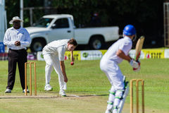 Cricket Action Sport. Cricket game action with batsmen and bowlers between Westville plays Durban Boys High 1st Teams school derby stock photography