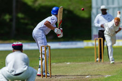 Cricket Action Sport. Batman plays ball,cricket game action with batsmen and bowlers between Westville plays Durban Boys High 1st Teams school derby royalty free stock photos
