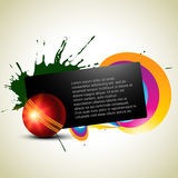 Cricket background. Abstract cricket ball artistic background Royalty Free Stock Image
