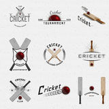Cricket badges logos and labels for any use Royalty Free Stock Photography