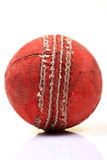 Cricket ball. Leather cricket ball isolated on white background royalty free stock photos