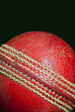 Cricket Ball. Isolated leather Cricket ball on a black background royalty free stock photo