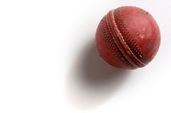 Cricket Ball. English Cricket was the predecessor of modern baseball royalty free stock images