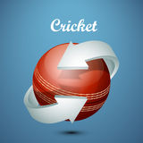 Cricket ball with arrow. Stock Images