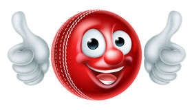 Cricket Ball Cartoon Character Stock Image