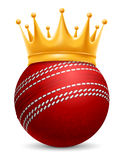 Cricket Ball in Crown. Cricket Ball in Golden Royal Crown. Concept of success in cricket sport. Cricket - king of sport. Realistic Stock Vector Illustration vector illustration