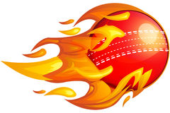 Cricket Ball on Fire. Illustration as EPS 10 File Royalty Free Stock Photography