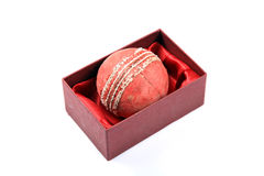 Cricket ball gift Royalty Free Stock Photography