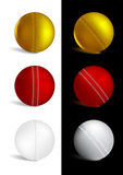 Cricket Ball in gold, red and white colors Royalty Free Stock Photo