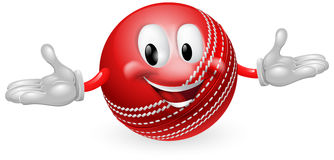 Cricket Ball Mascot. Illustration of a cute happy cricket ball mascot man royalty free illustration