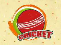 Cricket ball with national tricolor. Royalty Free Stock Photography