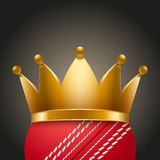 Cricket ball with royal crown Stock Image