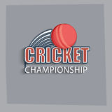 Cricket ball with text. Royalty Free Stock Image