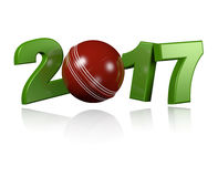 Cricket ball 2017with a white Background Royalty Free Stock Photography