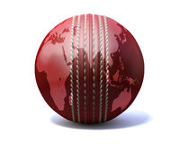 Cricket Ball World Map Royalty Free Stock Photos