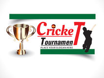 Cricket banner background with batsman Stock Photo