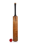 Cricket bat and ball Stock Images