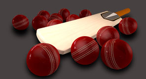 Cricket Bat And Balls Royalty Free Stock Photos