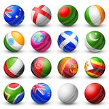 Cricket bat of different participating countries Stock Photo