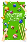 Cricket bat of different participating countries Royalty Free Stock Images