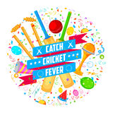 Cricket bat of different participating countries Royalty Free Stock Photos
