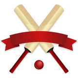 Cricket Bat Emblem Stock Photos