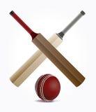 Cricket Bats and Ball Illustration Stock Image