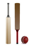 Cricket Bats and Ball  on White Illustration Royalty Free Stock Photos