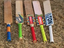 Cricket Bats That WinWhere the team did or not. stock photo