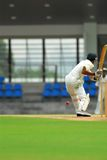 A cricket batsman Royalty Free Stock Photos