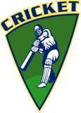 Cricket batsman batting shield Stock Photo