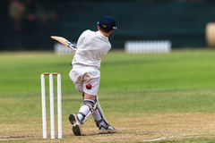 Cricket Batsman Miss Ball Royalty Free Stock Photo
