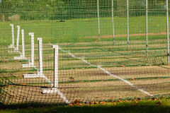 Cricket Batting Practice Nets Grounds. Cricket practice batting bowling wickets nets grounds Royalty Free Stock Photos