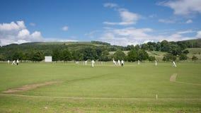 Cricket at Bolton Abbey. Yorkshire, England stock photo