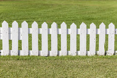 Cricket Boundary Fence. Cricket sports field boundary fence section summer setting stock image