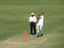 Cricket Bowling Stock Photo