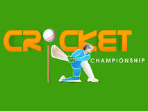 Cricket Championship with batsman. Royalty Free Stock Images